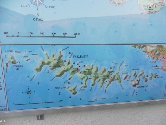 Pakleni islands map