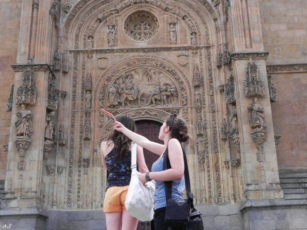 in front of the New Church of Salamanca