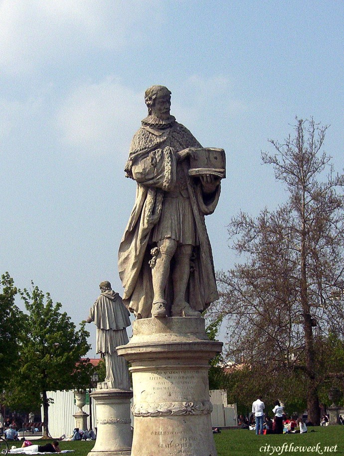 one of the many statues of Prato della Valle, Padua