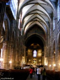 inside Notre Dame de Strasbourg