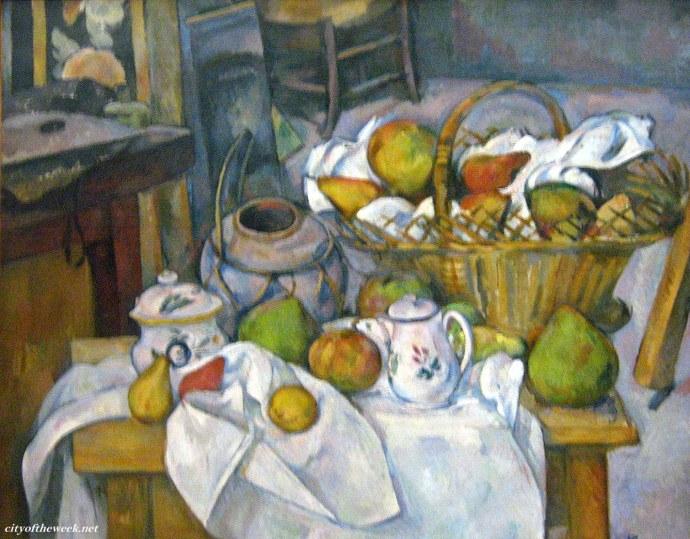 Paul Cezanne's Still life with basket