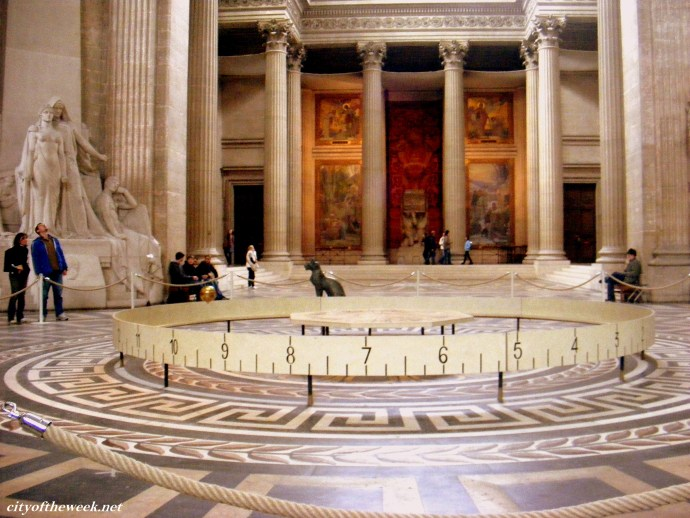 the pendulum in the Pantheon