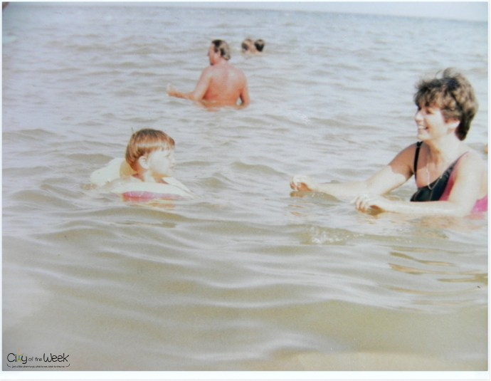 1993- first time at the Black Sea with Mom