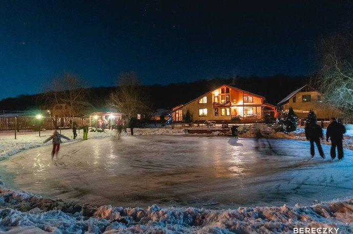 ice skating at Agape Resort Corunca