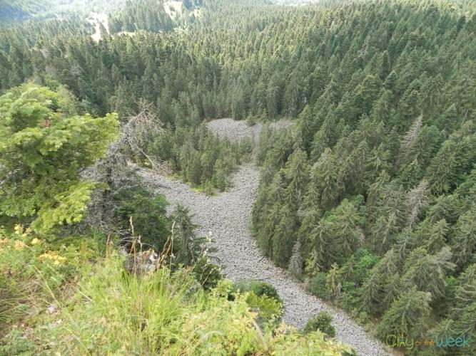 view from Detunata Flocoasa