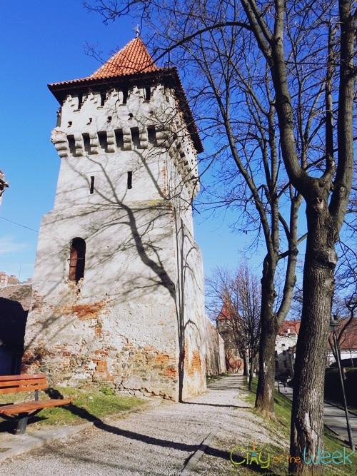 old city walls of Sibiu