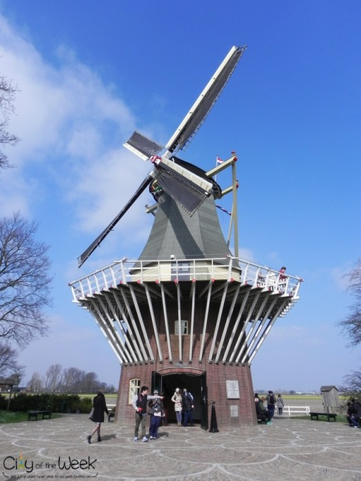 windmill at Keukenhof Gardens