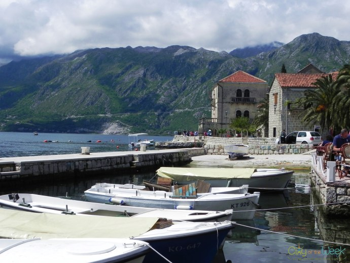 collection of boats in Perast