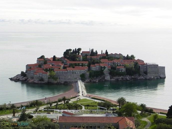 photo taken last year of Sveti Stefan, Montenegro