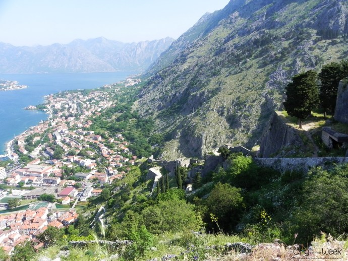looking back at Kotor Fortress Walls