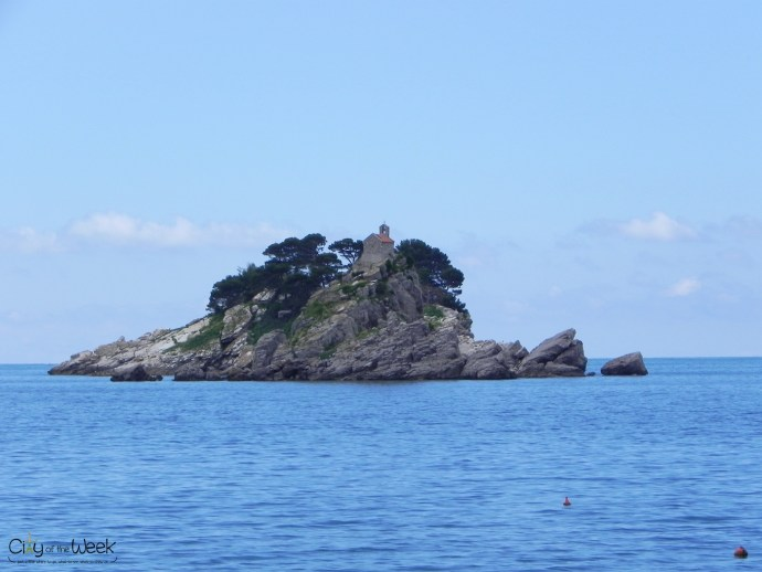 islet seen from Petrovac, Montenegro