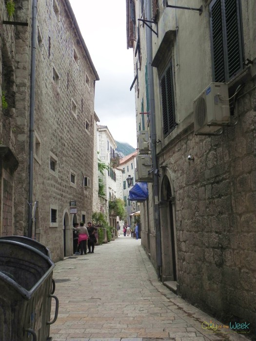 Narrow streets of Kotor