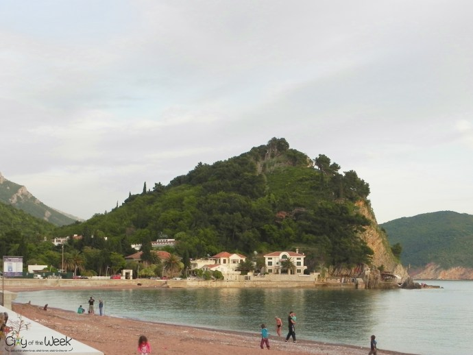 beach in Petrovac on 1st of May 2014