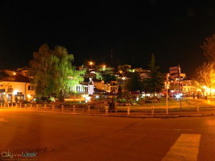 Streets of Ohrid at Night
