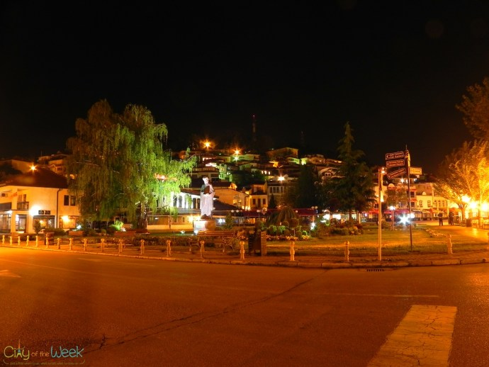 Streets of Ohrid at Night