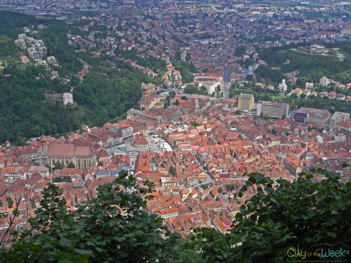 view of Brasov from Mount Tampa