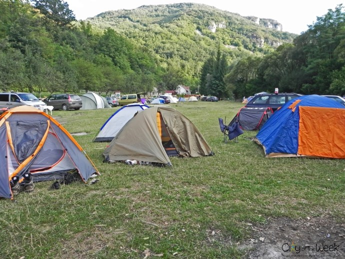 Campsite at the Pastravaria, Nera Valley
