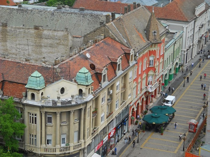 Streets of Subotica from Above