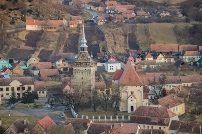 View from Saschiz Fortress, Transylvania, Romania