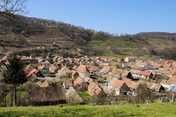 View of Biertan, Transylvania, Romania