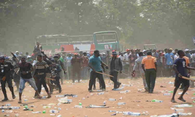 Image result for 1 dead, 2 injured as thugs attack APC rally in Bayelsa