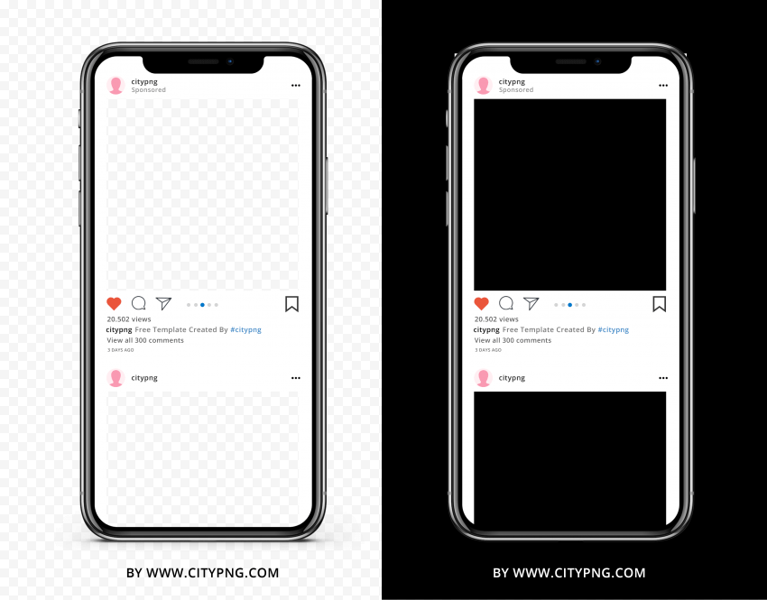 Instagram Post Template iPhone X Mockup   Citypng