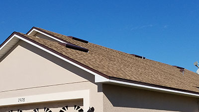 Recently repaired roof