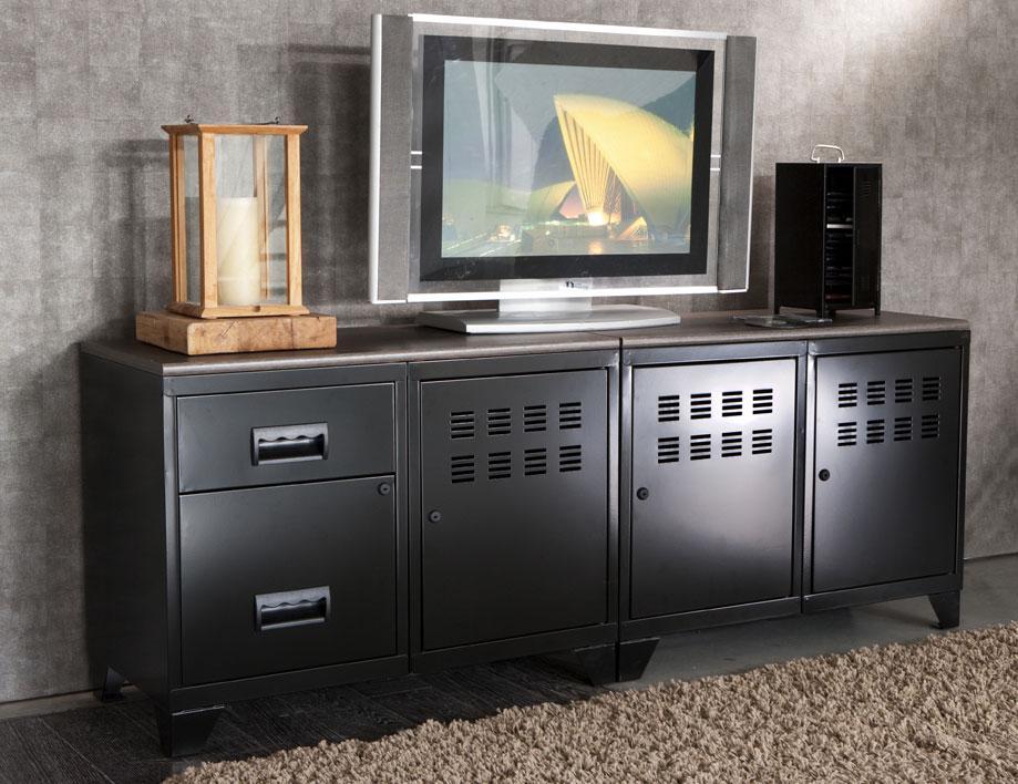 Meuble TV 3 Portes Et 2 Tiroirs Pierre Henry L1600xprof
