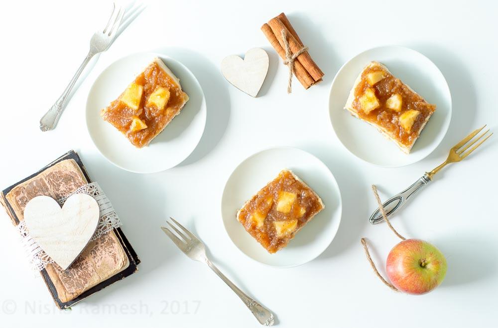 Vegan No Bake Autunm Cheesecake
