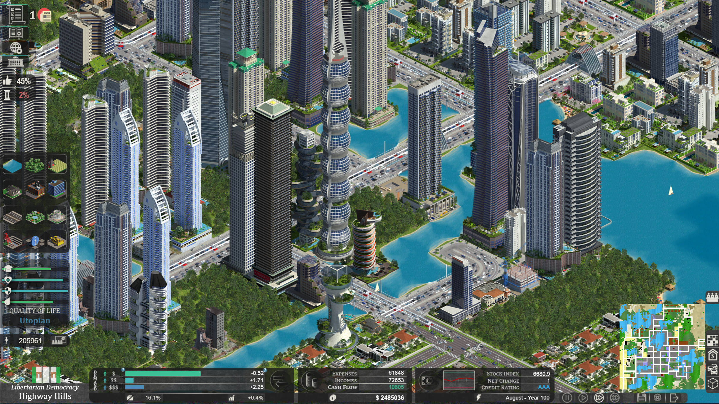 Citystate – New Indie City Building Game – an Economic and Political