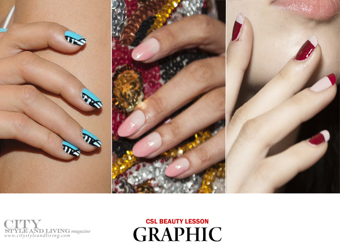City Style And Living Nail Trends Spring 2017 Graphic