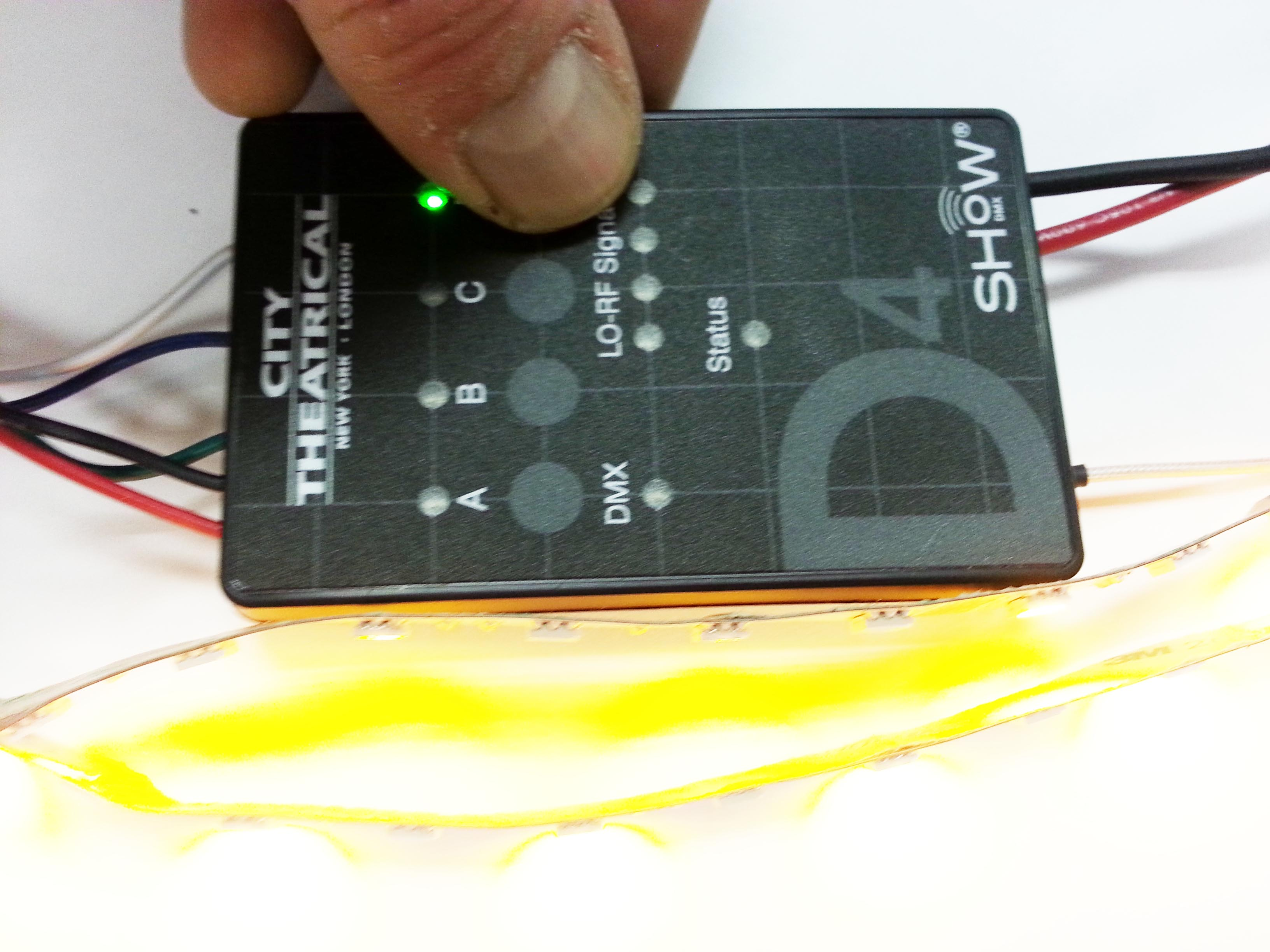 hight resolution of now we need to check our radio and dmx settings this happens on the tiny dip switches on the back they are small and it is helpful to shine a flashlight