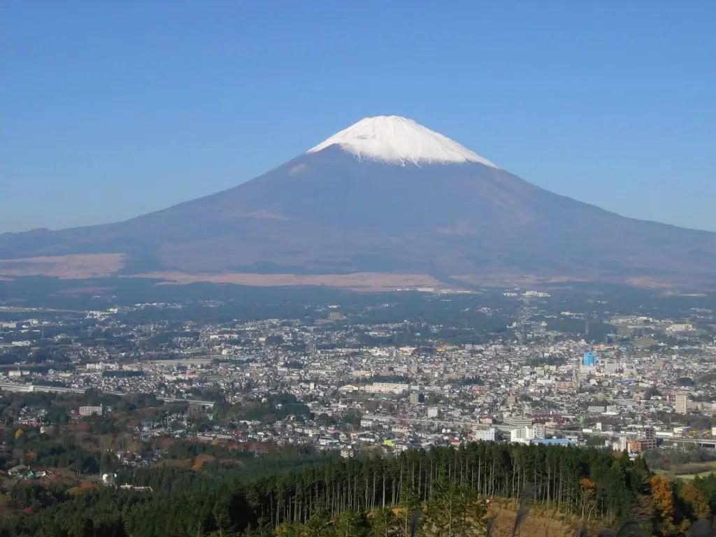 Le sommet enneig du Mont Fuji  Japon