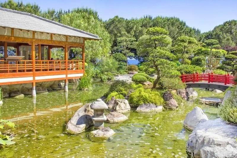 plan jardin japonais sur la carte de monaco
