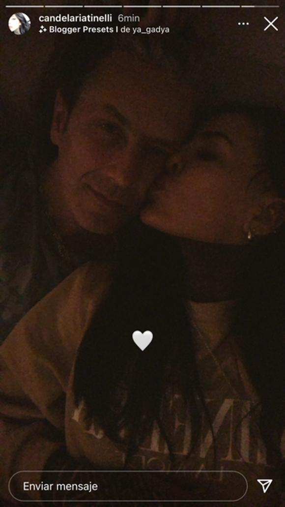 Candelaria Tinelli y Coti Sorokin compartieron su primera selfie a los besos, ¡pero la borraron!