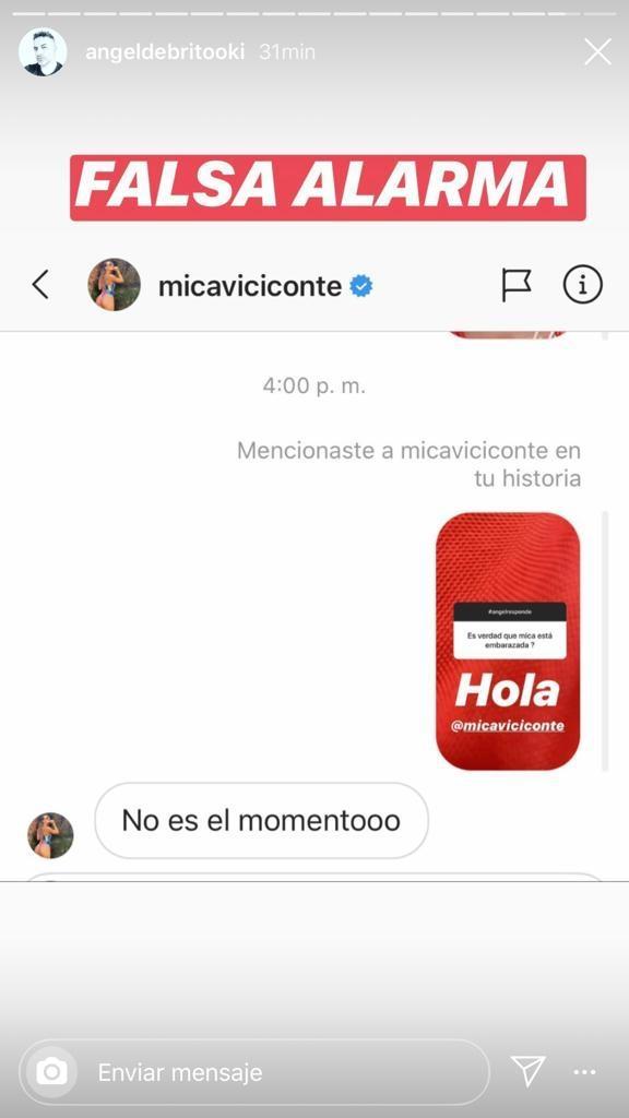 """La reacción de Mica Viciconte cuando le preguntaron si está embarazada: """"No es el momento"""""""