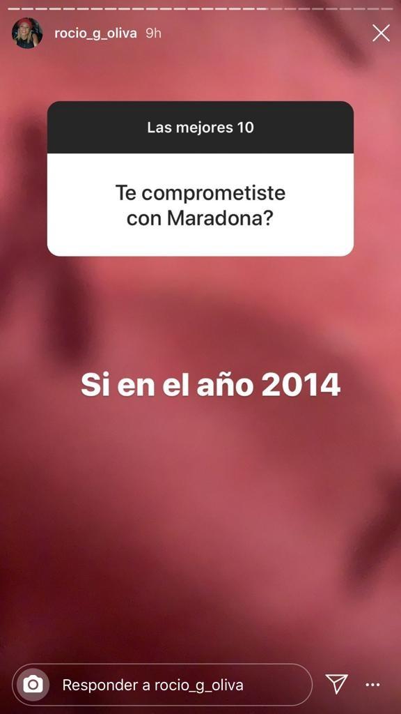 """Contundentes respuestas de Rocío Oliva cuando le preguntaron por Diego Maradona: """"Te quedaste en el pasado"""""""