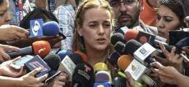 Lilian Tintori agradeció medida de casa por cárcel a López