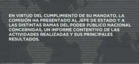 Comisión de la verdad entregó informe al Presidente Maduro sobre violencia política desatada en Venezuela