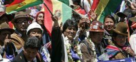 Grupos bolivianos marchan en apoyo a repostulación de Evo Morales