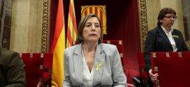 La presidenta del Parlamento catalán sale de prisión tras pagar 150.000 euros de fianza