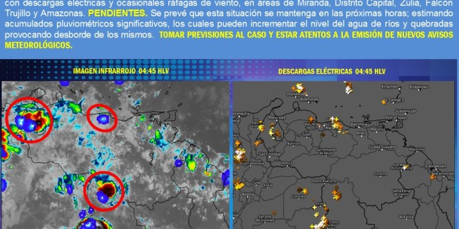 En Lara: Se pronostica lluvia con descargas eléctricas