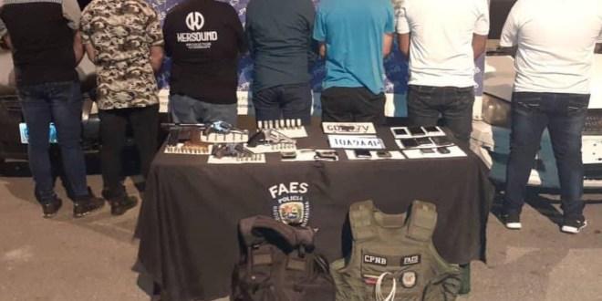EN BARQUISIMETO/ Aprehendidos siete sujetos por robo y porte ilícito de arma que se hacían pasar por funcionarios de las FAES