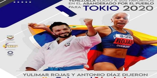 Antonio Díaz y Yulimar Rojas serán los abanderados en los JJOO de Tokio