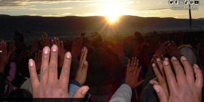 Venezuela se une junto a los pueblos originarios a la celebración del Día Internacional del Solsticio