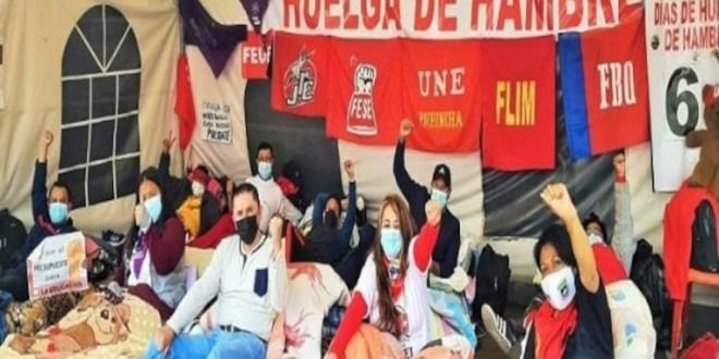 Se multiplica huelga de hambre de maestros ecuatorianos
