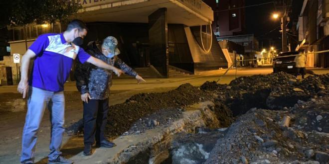 Hidrolara culmina trabajos de reparación de tuberías en el centro de Barquisimeto