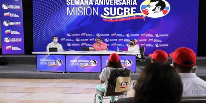 Presidente Maduro celebra 18 aniversario de la Misión Sucre que permitió la transformación universitaria en Venezuela