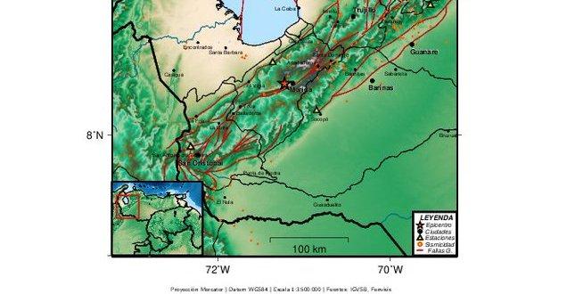 A 11 KM. DE LA CAPITAL ANDINA / Se registró un temblor en Mérida de magnitud 3,4 este miércoles 1 de septiembre