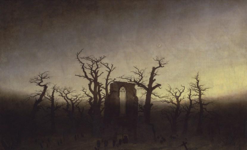 Abadía en el robledal. Caspar David Friedrich